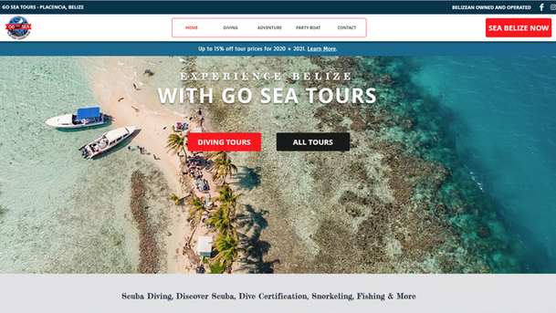 Go Sea Belize Website Project