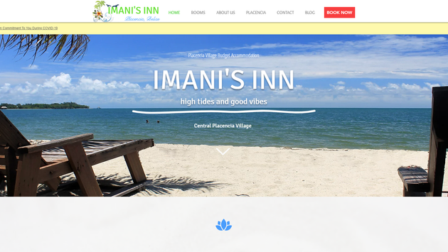 Imani's Inn Placencia Website Project