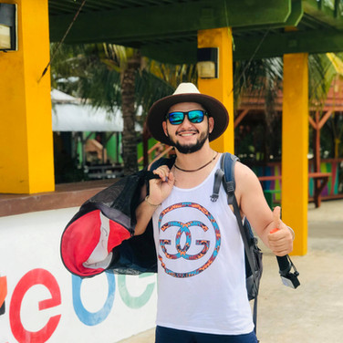 Tourist in Placencia