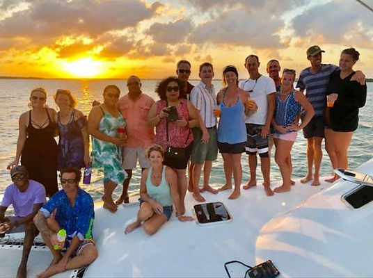 Bluewater Sailing Charters sunset cruise guests