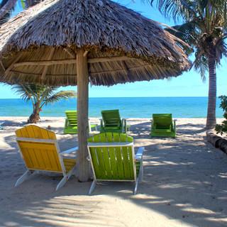 Beach chairs in Placencia