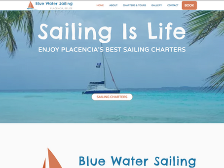 RECENT WEBSITE PROJECT: Blue Water Sailing