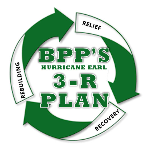 BPP's Hurricane Earl 3-R Plan
