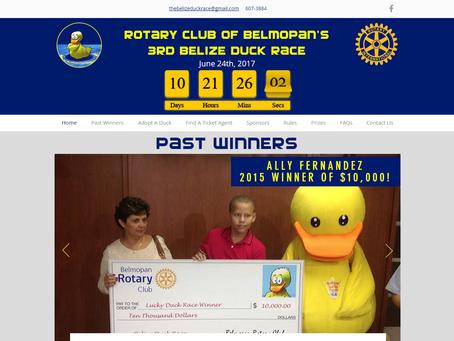 Launching of the Belize Duck Race Website (pro bono)