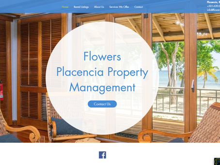 RECENT WEBSITE PROJECT: Website Re-Design For Flowers Placencia Property Management