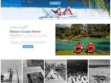 "Recent Project: ""Belizean Escapes Retreats"" Tour Company Website"