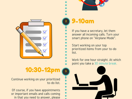 5 STEPS TO AN EFFICIENT WORK DAY   INFOGRAPHIC