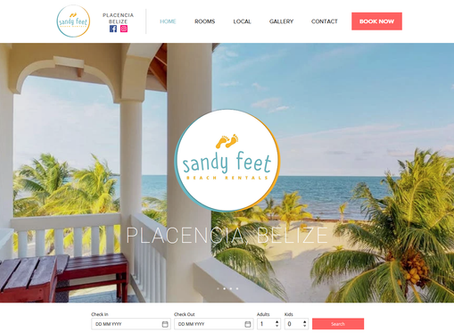 RECENT PROJECT: New Website For Sandy Feet Beach Rentals in Placencia