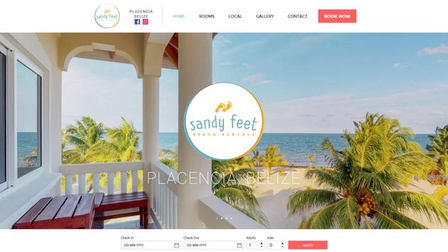 Sandy Feet Beach Rentals Website Project