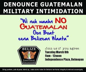 Denounce Guatemalan Military Intimidation