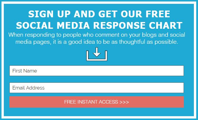 Free Social Media Response Chart
