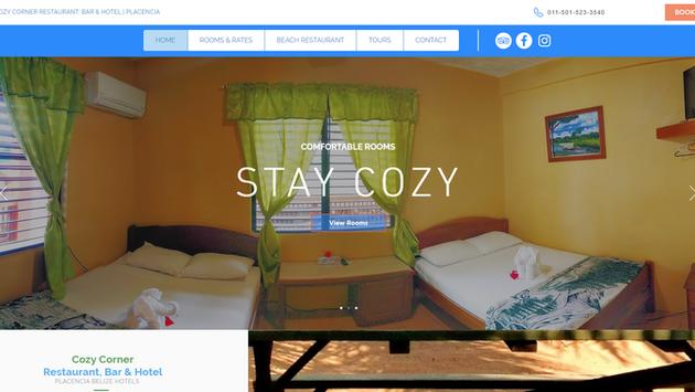 Cozy Corner Hotel Website Project