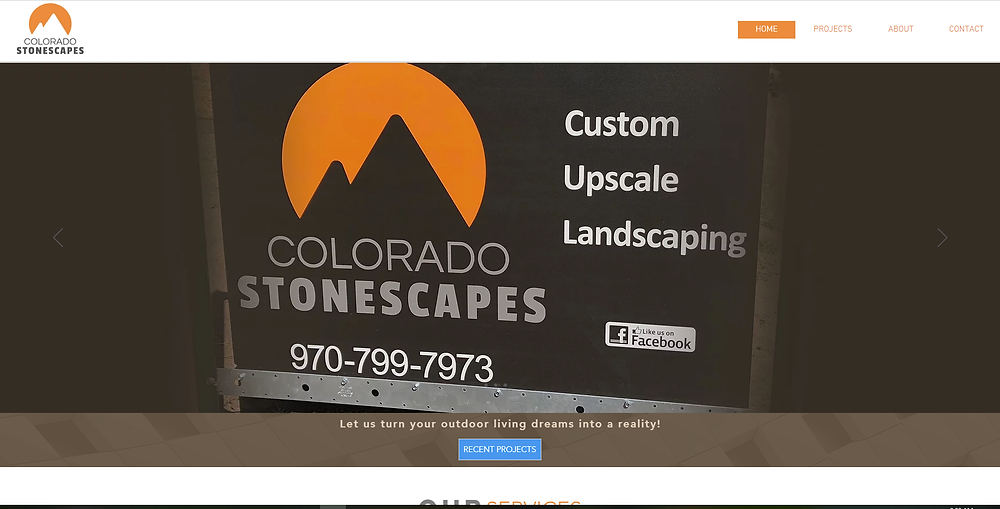 Colorado Stonescapes Website Development