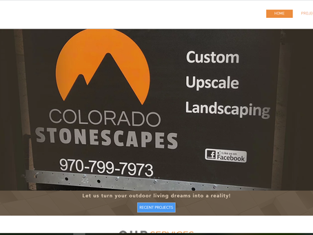 RECENT PROJECT: Colorado Stonescapes Website Development
