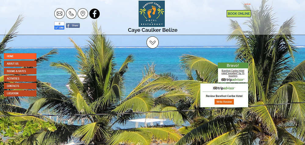 Barefoot Caribe Hotel in Caye Caulker Belize