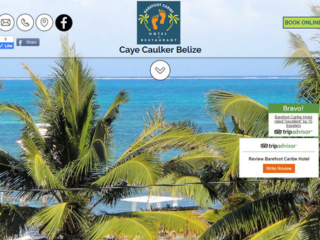 Barefoot Caribe | A Belize Hotel | Website with Integrated Property Management System