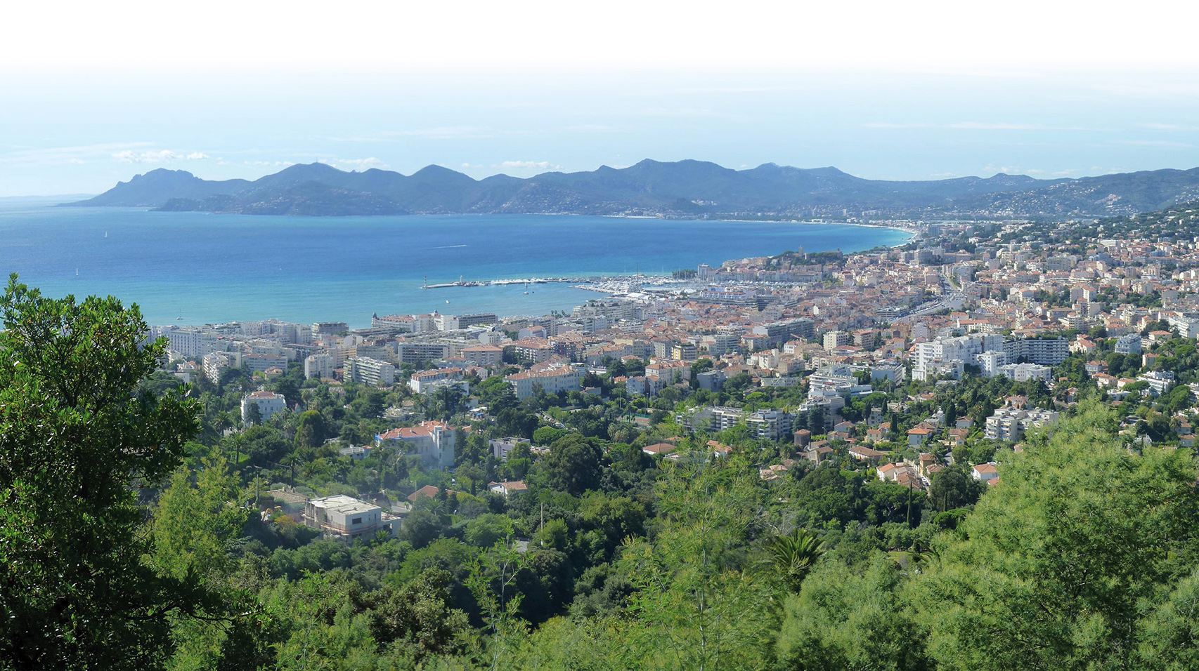 Vue depuis le canal, Cannes
