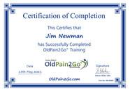 684 - OldPain2Go Certificate - Jim Newma