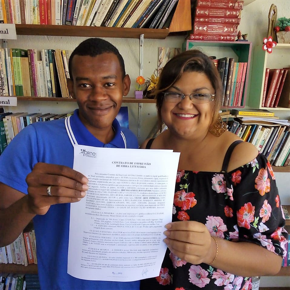Bruno W. Samuell e Leninha Sousa