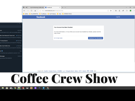 Attacked in the middle of an update! Facebook on Attack! Of the Coffee Crew East coast edition!