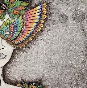 Mask, life, society, future, grey, woman, leaves