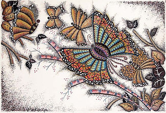 Butterfly who is proud to be different, life, illustrations, butterflies, curly, twirly