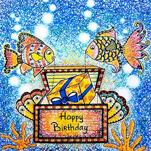 Fish and treasure chest