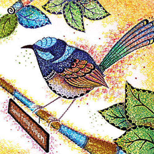 The Blue Wren Card