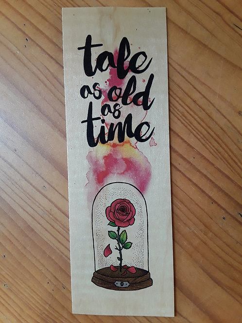 Beauty and the Beast, wooden bookmark