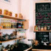 Organic Cafe at Liznojan Books, Tiverton, Devon