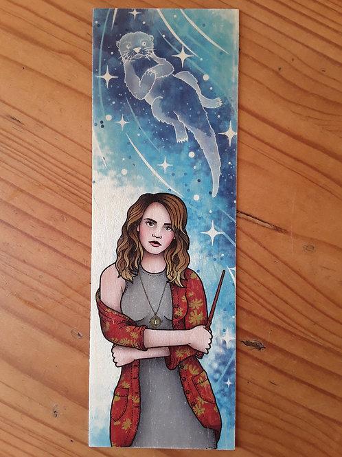 Harry Potter - Hermione Patronus, wooden bookmark