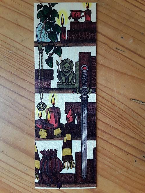 Harry Potter - Gryffindor, wooden bookmark