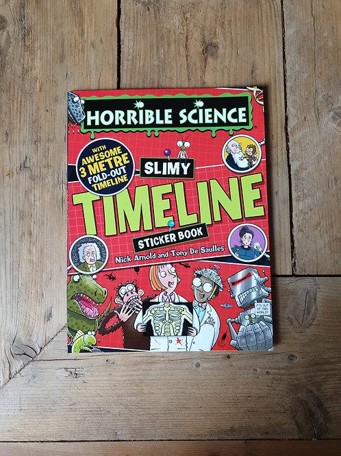 Science timeline sticker book
