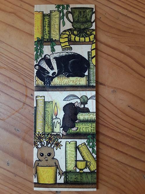 Harry Potter - Hufflepuff, wooden bookmark