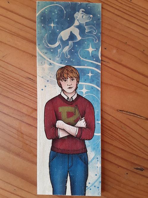 Harry Potter - Ron Patronus, wooden bookmark