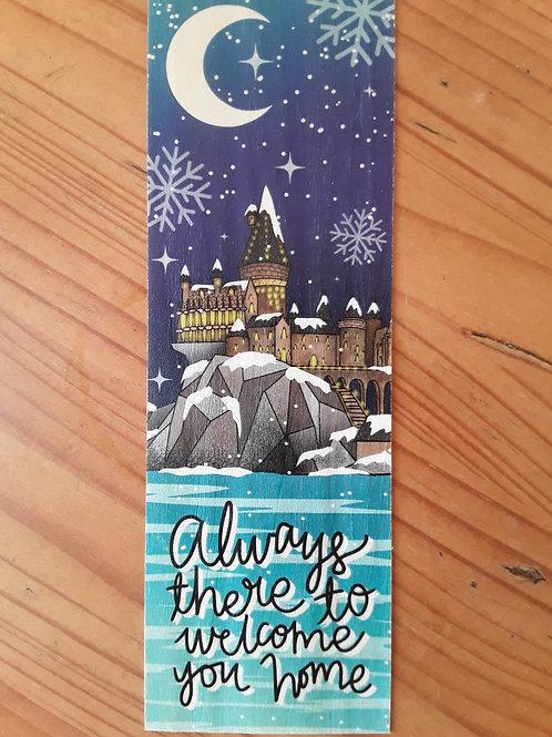 Harry Potter - Hogwarts, wooden bookmark