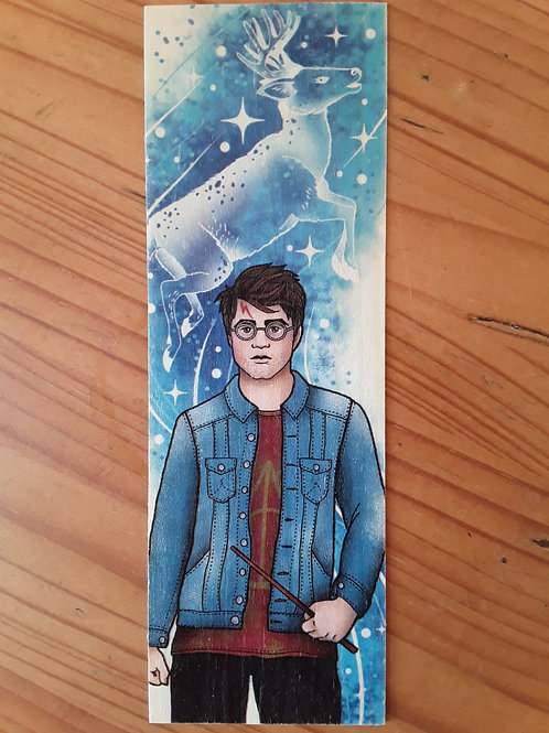 Harry Potter - Patronus, wooden bookmark