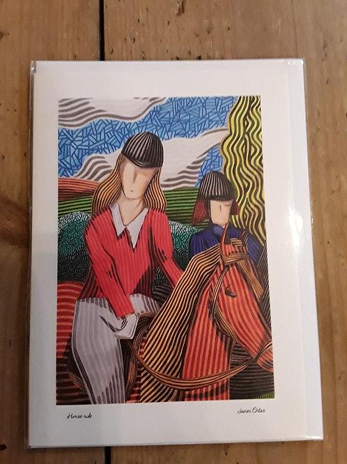 Horse ride card