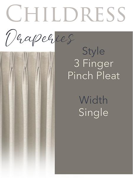 Childress Fabrics Draperies 3 Finger Pinch Pleat