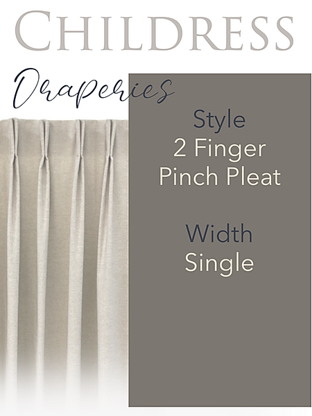 Childress Fabrics Draperies 2 Finger Pinch Pleat