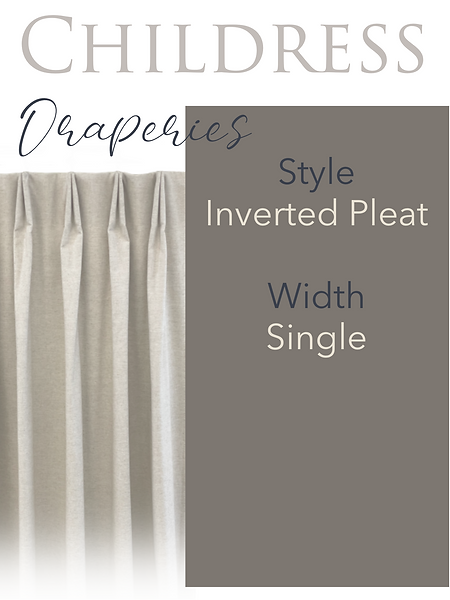 Childress Fabrics Draperies Inverted Pleat