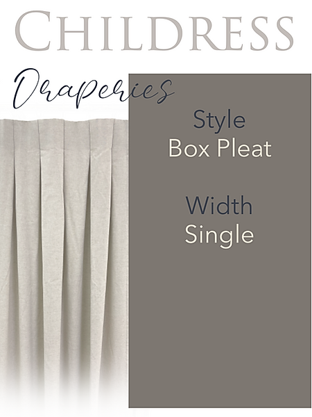 Childress Fabrics Draperies Box Pleat
