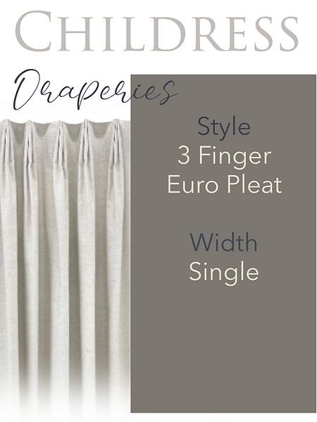 Childress Fabrics Draperies 3 Finger Euro Pleat
