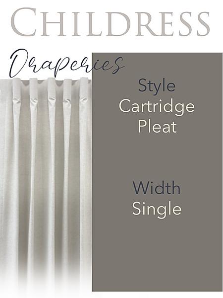 Childress Fabrics Draperies Cartridge Pleat