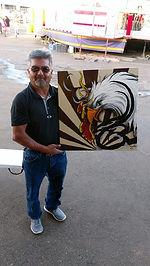 tribal Eagle canvas by Anna Adair