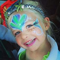 mermaid face paint by Anna Adair