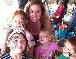 butterfly eyes face paint by Anna Adair