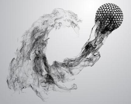 abstract-silhouette-golf-ball-illustrati