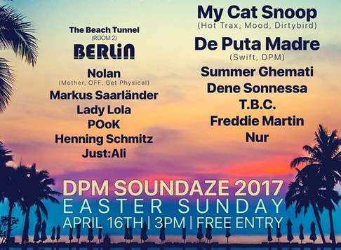 Berlin and DPM Link Up For A Huge Beach Party
