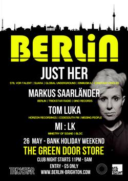 BERLIN PRESENTS JUST HER